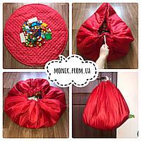 Коврик - мешок для игрушек, конструктора, Лего (Lego), Красный