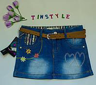 Джинсовая юбка  для девочки рост 116-140 см, фото 1