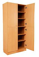 Шкаф книжный четырехдверный из ДСП (бук) 850х432х1864