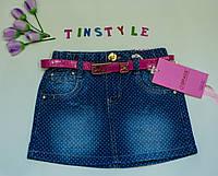 Стильная джинсовая юбка  для девочки рост 116-146 см, фото 1