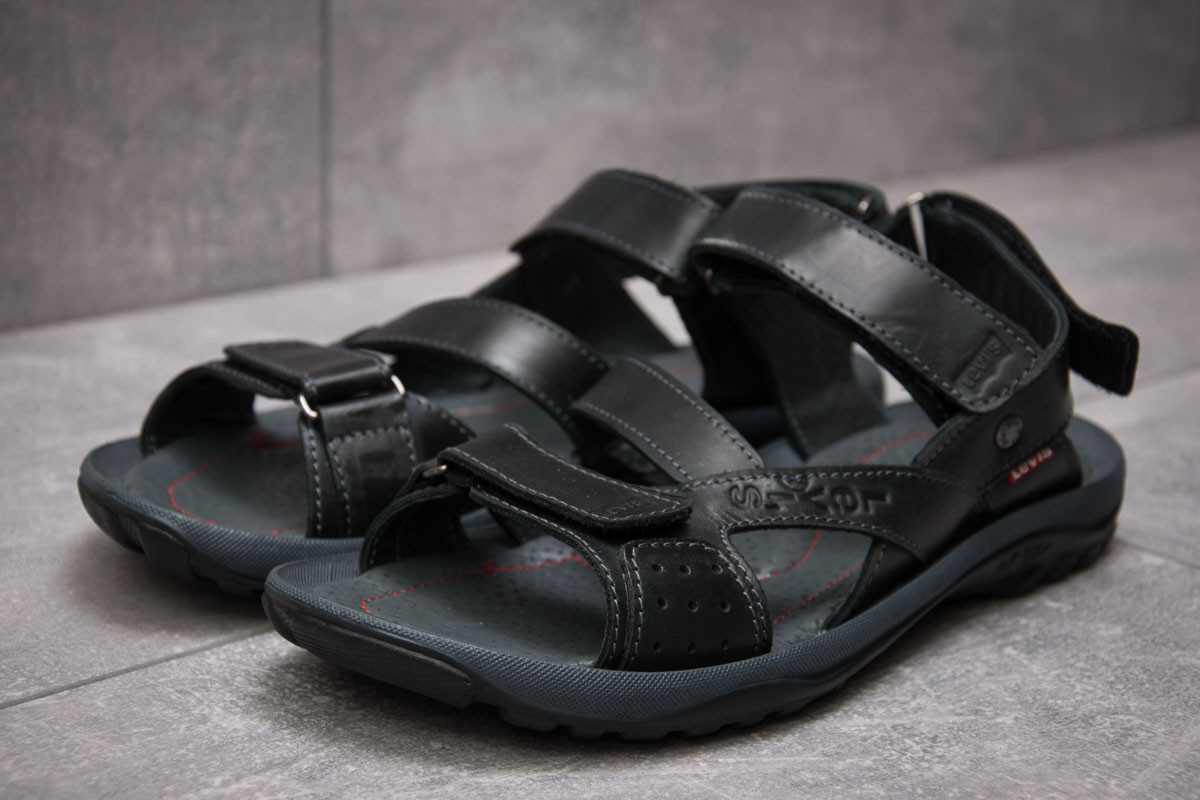 Сандалии мужские Levi's Summer, черные (13571) размеры в наличии ► [  41 (последняя пара)  ] (реплика)