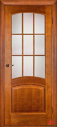 Двери Белоруссии Капри ПО дуб тонированный, сатин бронза, фото 2