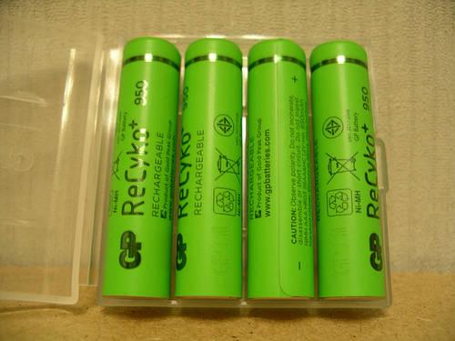 GP ReCyko+ Series 950 mAh AAA аккумулятор (eneloop)