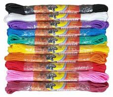 Шнур крученый бытовой 2,5 мм цветной в мотке по 15 метровв упаковках по 10 штук