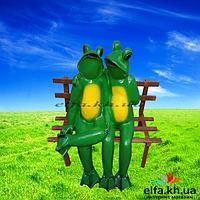 Фигура для сада Лягушки влюбленные 45 см.