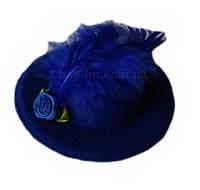 "Шляпка ""Розочка"" синяя"
