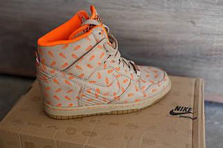 Сникерсы женские Nike беж\оранж, фото 2