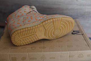 Сникерсы женские Nike беж\оранж, фото 3