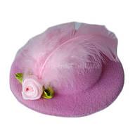 """Шляпка """"Розочка"""" нежно-розовая"""