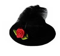 """Шляпка """"Розочка"""" черная"""