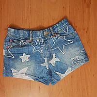 Тонкие короткие шорты под джинс для девочки, р.110