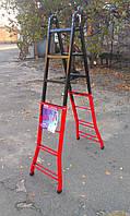 Стальная телескопическая лестница 4х4, фото 1