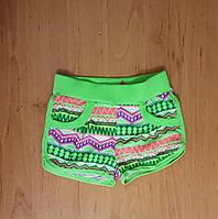 Яркие трикотажные короткие шорты для девочки