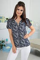Блуза женская со змейкой в расцветках 15