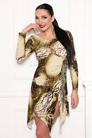 Платье по фигуре облегающее, масло ткань зеленого цвета, фото 1