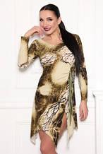 Сукня облягає по фігурі, масло тканина зеленого кольору