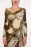 Сукня облягає по фігурі, масло тканина зеленого кольору, фото 4