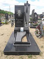 Памятник из гранита с гитарой №820
