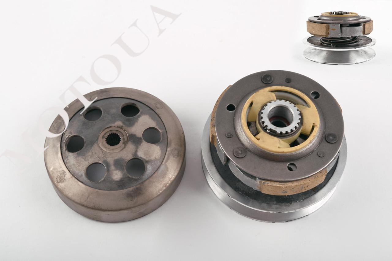 Вариатор задний Honda LEAD AF-48/DIO AF-35 NEW/FIT/AF-56 (алюминий)+колокол KOK