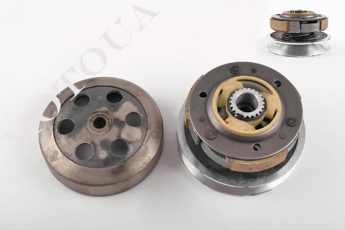Вариатор задний Honda LEAD AF-48/DIO AF-35 NEW/FIT/AF-56 (алюминий)+колокол KOK, фото 2