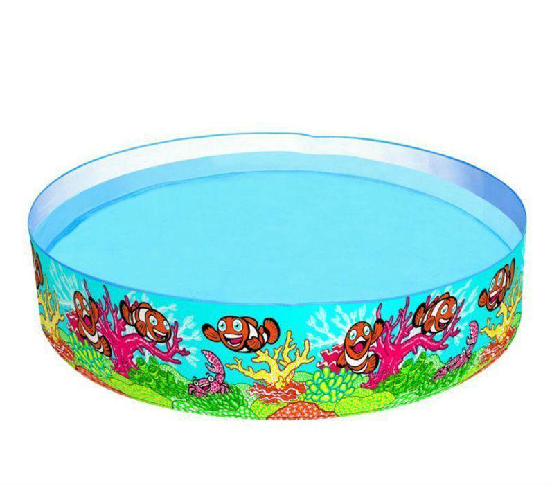 Детский наливной бассейн BestWay 244х46 см (55031) Рыбки