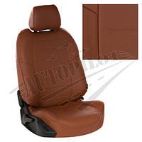 Чехлы на сиденья Chevrolet Spark II с 05-10г. (Экокожа Коричневый   Коричневый)