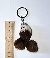 Меховой брелок собачка 7 см