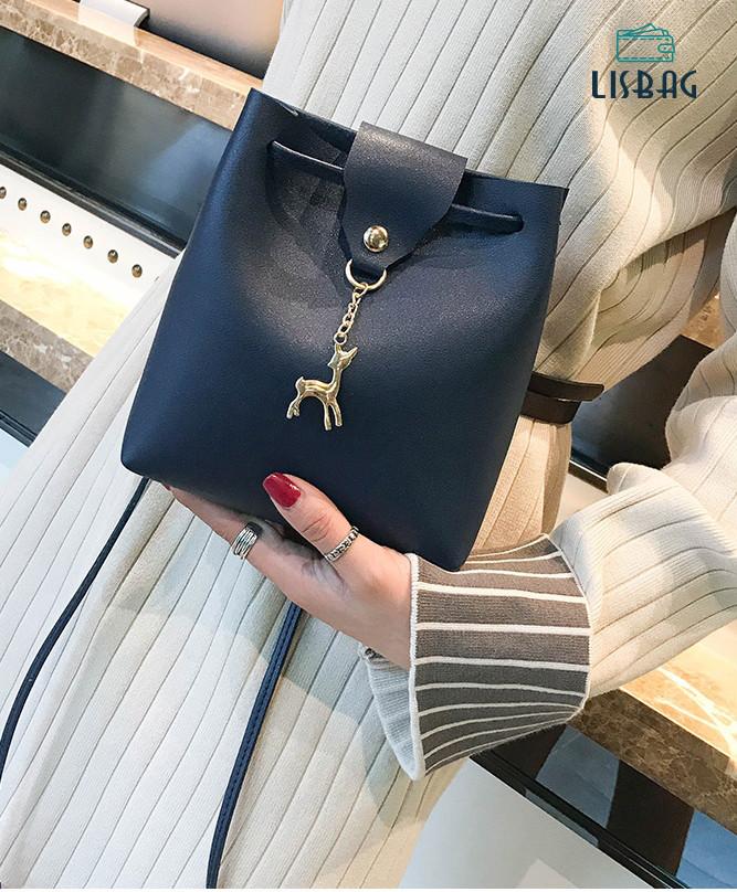 0b85eb63ef95 Небольшая мини сумка для девочки с оленем Melani, милый и приятный дизайн,  Синяя -