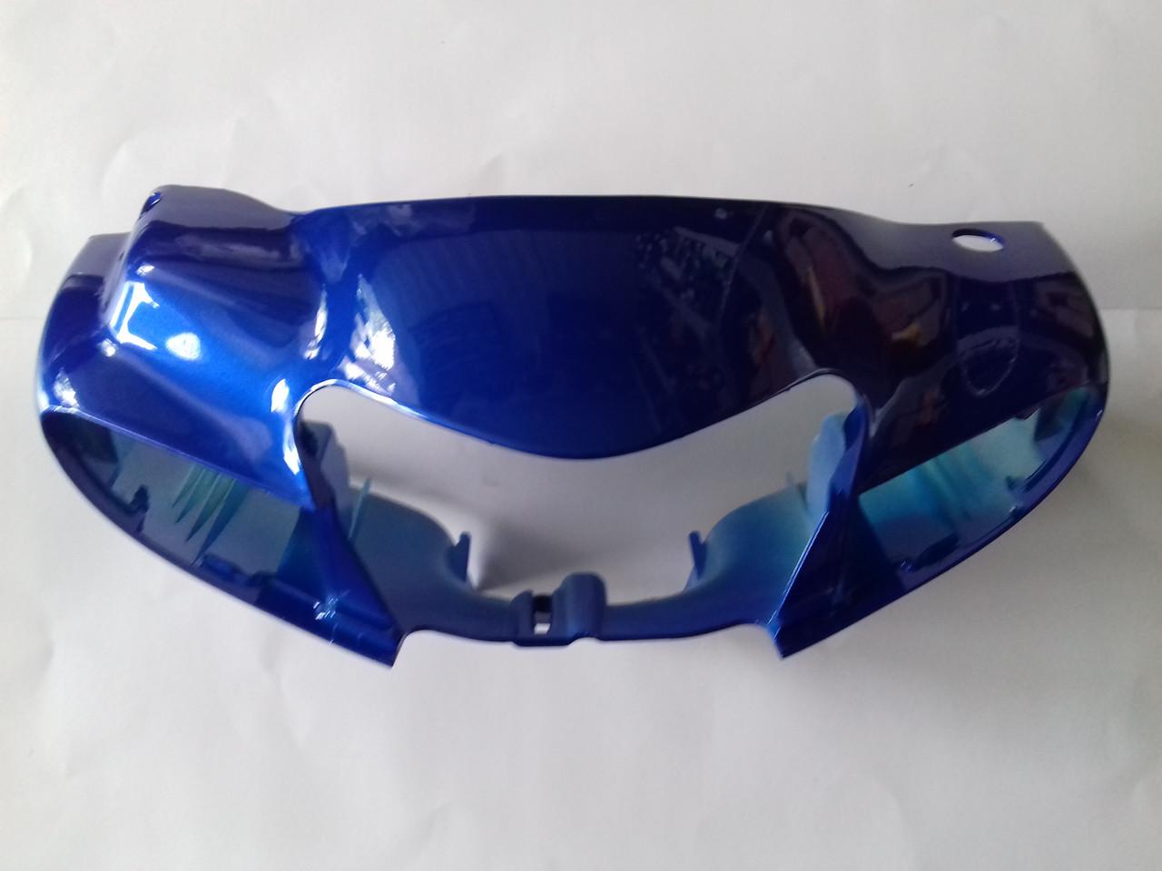 Голова (пластик фари) SUZUKI LETS II бабочка-3 (синяя)