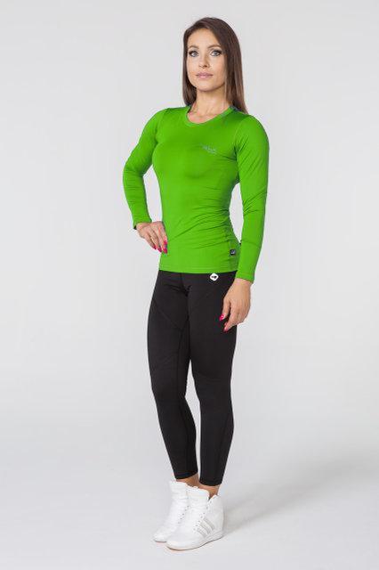 Спортивная женская кофта с длинным рукавом Radical Efficient, зеленая (лонгслив)