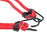 Эластичные ремни для крепления багажа с крюками 60 см (2шт) Alca 882 060 красный
