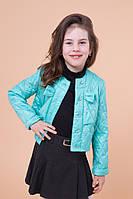 """Детская куртка-пиджак """"Парижанка"""" бирюза, фото 1"""