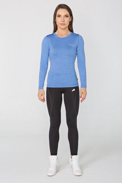 Спортивная женская кофта Radical Efficient SG синий меланж, (Польша) лонгслив