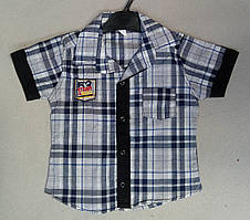 Детская рубашка с коротким рукавом для мальчиков 5-8 лет