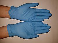 Небесно-голубые нитриловые перчатки без пудры Polix PRO&MED (100 шт. / уп.), фото 1