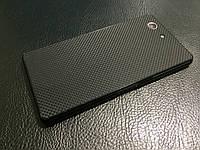"Декоративная защитная пленка для Sony Xperia Z3 Compact ""микро карбон черный"", фото 1"
