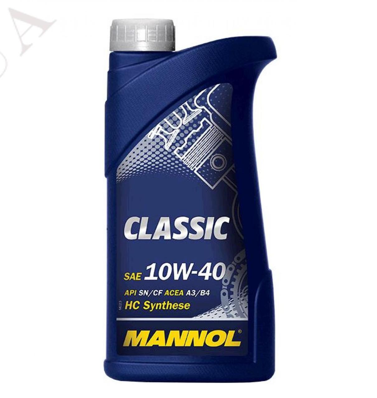 Масло 4T, 1л (SAE 10W-40, синтетика, Classic API SN/SM/CF) MANNOL