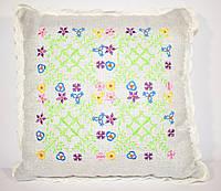 """Декоративная подушка с вышивкой """"Орнамент"""""""