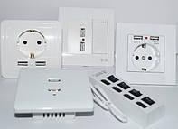 Розетки з USB , зарядні пристрої
