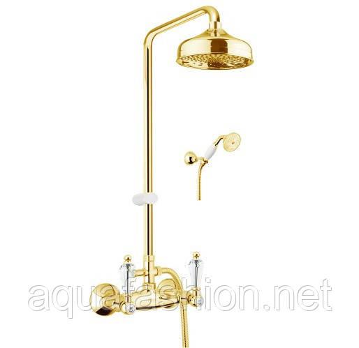 Золота душова колона з ручками Сваровскі Fiore Gioielli 08OO0620