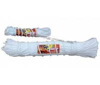 Шнур плетёный бытовой полипропиленовый с жестким наполнением, диаметром 5 мм в мотках по 15 метров