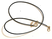 Основа-колье, подвески, шнур, нейлон, черный, золото, 45 см + удленнитель
