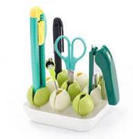 Подставка-органайзер для косметики, салатовый ( держатель канцтоваров и мелочей )
