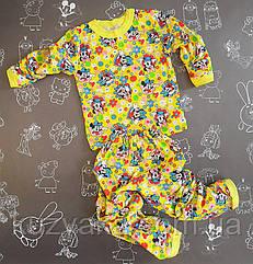 Детская пижама с начесом Дисней на 6-7 лет для девочки