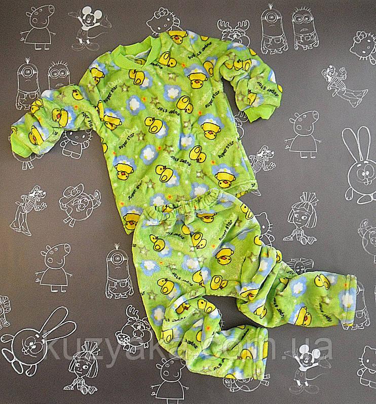 Детская пижама из велсофта Кря-кря на 4-5 лет унисекс