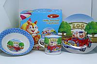 Красивый детский набор посуды для кормления, фото 1