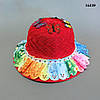 Шляпа с бабочками для девочки. 52 см