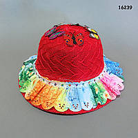 Шляпа с бабочками для девочки. 52 см, фото 1