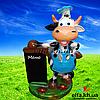 Садовая фигура Корова повар 53 см.