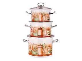 Набір емальованого посуду Idilia Флоренція 3 предмета 2л/3л/5,5 л (№1500)